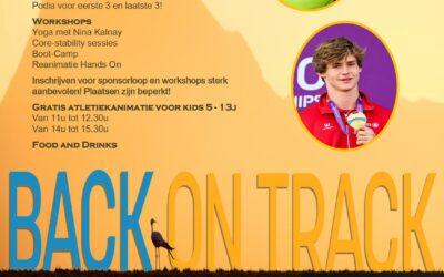 Benefiet tvv van Back on Track met Thomas Van der Plaetsen